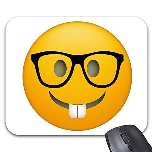 Emoji Nerd Glasses Mouse Pad Trendy Office Desk Accessories - 9.82 x 7.84