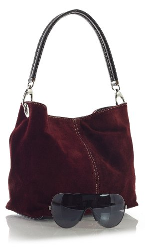 Single Magenta Slouch Strap DEMI Womens Leather Bag Mini LIATALIA Real Italian Z Pink Suede Clearance Hobo BRx6Y