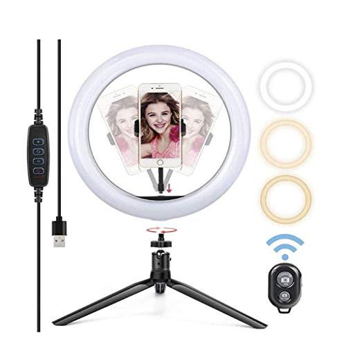 10 Inch Ring Light met standaard – LED Camera selfie Light Ring for Phone Tripod en Phone Holder for video Fotografie