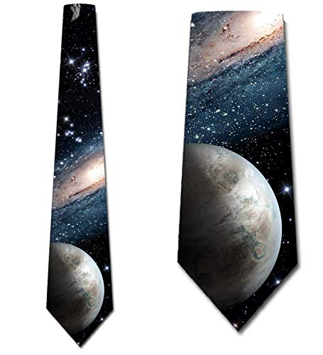 Mens Galaxy Space Ties Outer Space Necktie by Three Rooker
