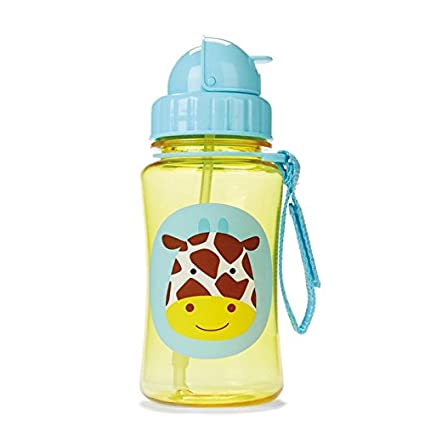 Skip Hop Zoo Straw Bottle New Giraffe Kids Straw Drinking Bottle