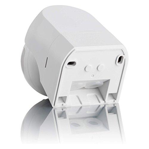SEBSON® Detector de movimiento exterior IP44, LED, montaje en pared, programable, sensor de infrarrojos, alcance 12m / 180°, max.