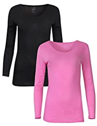 Tru Fit Women's 2 Pack Performance Thermal Lightweight Base Layer Top