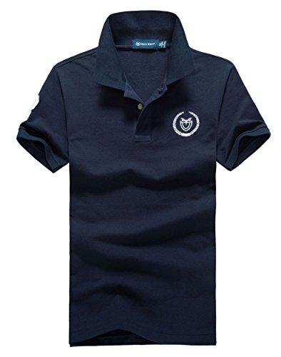 (シンアンドケン) sin&ken ポロシャツ メンズ シャツ 半袖 ポロ ゴルフウェア トップス L ネイビー [並行輸入品]