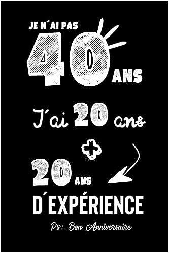 carte anniversaire 40 ans humour Joyeux Anniversaire Humour: CarDe Notes, Idée Cadeau Pour