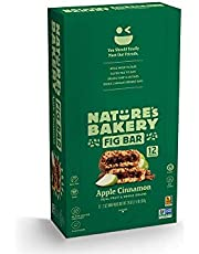 Nature's Bakery Whole Wheat Fig Bars, Apple Cinnamon, 1- 12 Count Box of 2 oz Twin Packs (12 Packs), Vegan Snacks, Non-GMO