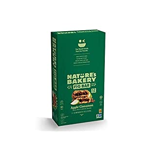 Nature's Bakery Whole Wheat Fig Bars, Apple Cinnamon (12 Bars), Packaging May Vary, Non GMO, Vegan Snacks