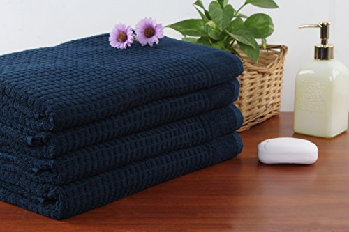 - SoftWeave Extra Large Bath Towel Sheets Set of 4, Large Bath Towels, Soft, Absorbent, Thick. Plush, Hotel Quality (blue)