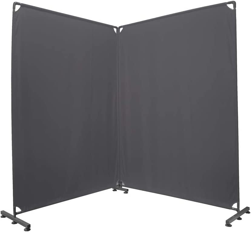 STEELAID Room Divider Office Wall Divider 100'' Gray Partition for Home Office, Restaurant,School, Church, Classroom, Dorm Room, Kids Room, Freestanding & Foldable