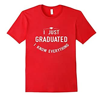 Mens Funny graphic Class of 2017 I just graduated  t-shirt 3XL Red