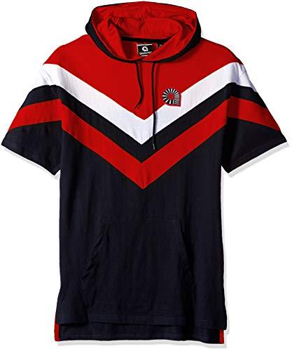 Akademiks Mens Short Sleeve Hoodie Sweatshirt