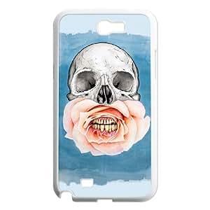 Hu Xiao skull art cell phone case cover For BqPBA7LdhK0 Samsung Galaxy Note2 N7100/N7102