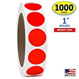 """1"""" Bright Red Round Color Coding Circle Dot"""