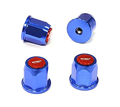 Integy Hobby RC Model C25599BLUE Billet Machined Realistic Wheel Nut for 2.2 Size 1/10 Scale Crawler