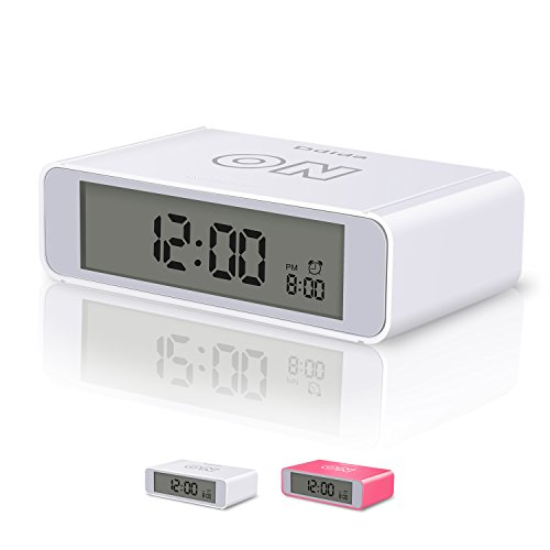 Flip alarm clock,Ddida Travel Alarm Clock, Kids Alarm Clock with Snooze and Touch Sensor Nightlight