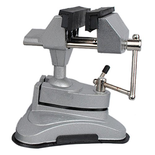 NUZAMAS Multi Angle Swivel Head Table Top Vice Clamp With Suction ()
