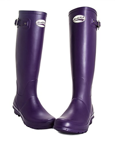 WINNING high BOOTS 3 Purple insole AWARD calendered boots ladies wellington knee Grape DELIVERY FREE natural Size rubber cushioned 4wdtxBnqn