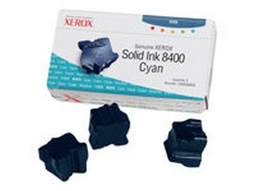 Xerox 108R00605 Solid Ink Stick, Cyan 3/Box - in Retail Packaging