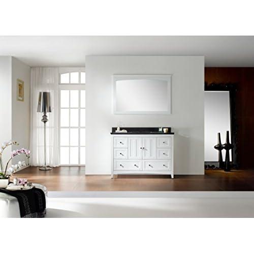 """best Jade Bath JB-17665 47.5"""" W x 18"""" D Plywood-Veneer Vanity Set, White"""
