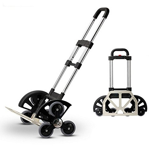 SOGAR Aluminum Alloy Folding Hand Truck Six-wheel truck Easy to Use and Heavy Duty