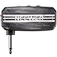 Neewer Mini Pocket Guitar Headphone Amp Amplifier Tube Drive with 2 AAA Batteries, NW-03, Black
