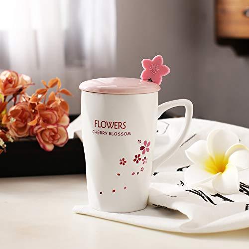 Cute ceramic mug cherry blossom milk cup Cherry Blossom Cup - Floating -