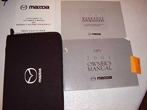 2001 mazda mpv owners manual mazda amazon com books rh amazon com 2001 mazda protege service manual pdf 2001 mazda mpv repair manual