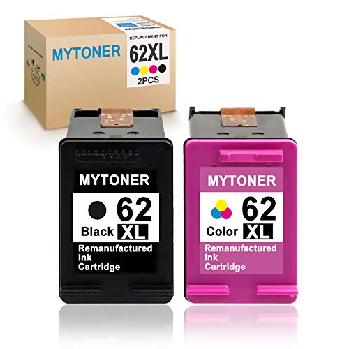 MYTONER Re-Manufactured Ink Cartridge Replacement for HP 62