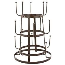 Sorbus Vintage Rustic Iron Drying Rack, Brown