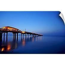 "Canvas on Demand Wall Peel Wall Art Print entitled Sunrise at dania beach park, South Florida 30""x20"""
