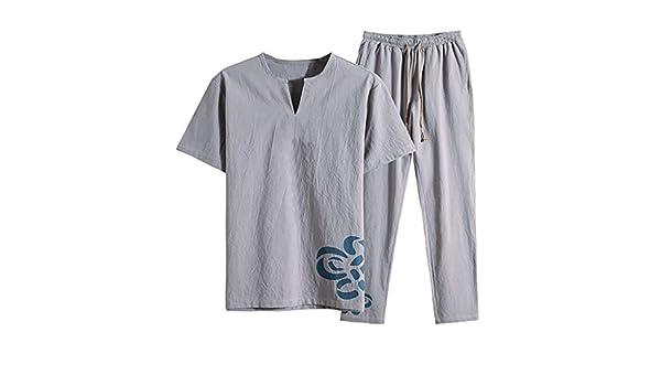 Magiyard - Camiseta de Manga Corta para Hombre y pantalón Fino y ...