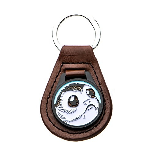 Star Wars Jewelry Unisex Adult Base Metal Episode 8 PORG Leather Key Chain, Brown/Silver, One Size
