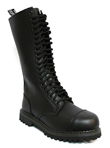 Grinders King Black Unisex Safety Steel Toe Cap Military Punk Boots 11 (Black Matte Military Cap)