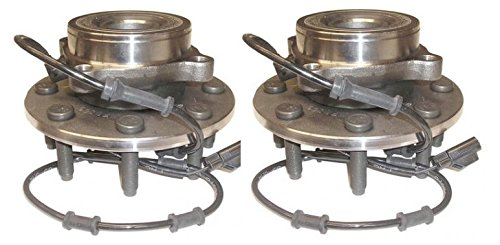 Front Wheel Hub /& Bearing Left /& Right Pair for 03-05 Dodge Ram 4WD w//ABS