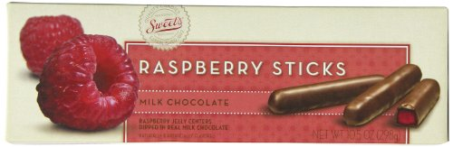 Sweets Candy Milk Chocolate Sticks, Raspberry, 10 Ounce (Chocolate Sweets)