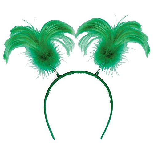 Amscan St. Patrick's Day Feather & Marabou Ponytail Bopper Costume Party Head Wear Accessory (1 Piece), 8