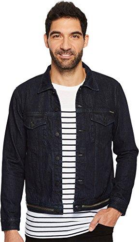 Calvin Klein Jeans Men's Waistband Zip Denim Trucker Jacket, Magnetic Blue, X-Large by Calvin Klein