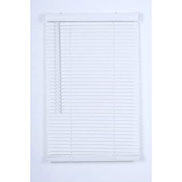 project source blinds mounted outside window project source 1in cordless white vinyl room darkening miniblinds common 31 amazoncom
