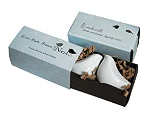 Love Bird Ceramic Salt and Pepper Shakers Wedding Party Favor Gift , Set of 48