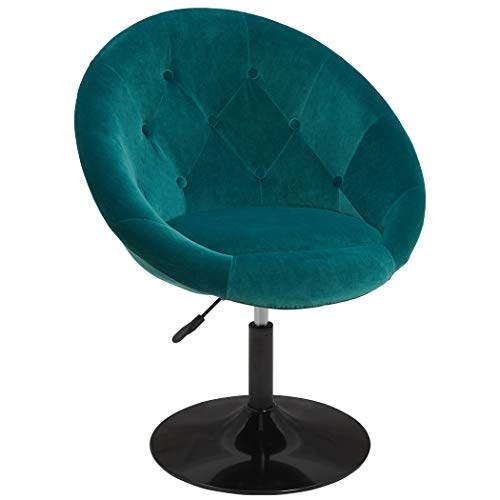 Duhome Makeup Vanity Chair Accent Chairs, Comtenporary Lounge Chair Adjustable Modern Round Tufted Back Swivel Atrovirens Velvet