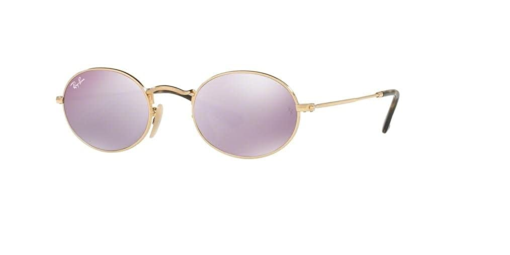 75f0898c8a7d9e Amazon.com  Ray-Ban RB3547N OVAL 001 3F 51M Arista Crystal White Blue  Gradient Sunglasses  Clothing