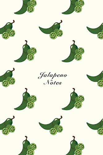 """Jalapeno Notes: 6""""x9"""" Unruled Blank Notebook Watercolor Texture Design Vegetable Food Ingredient Pattern Cover. Matte Softcover Note Book Journal [Another Storyteller] (Tapa Blanda)"""