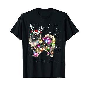 Christmas Lights Keeshond Dog T-Shirt 12
