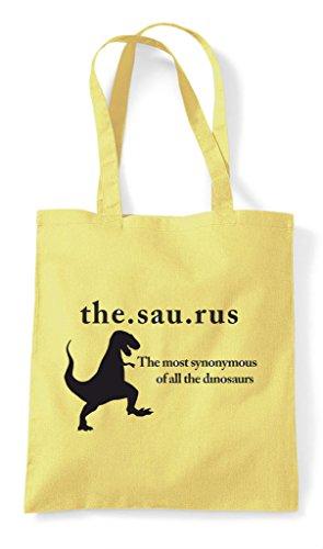 Shopper Dinosaur Tote Lemon Dictionary Funny Thesaurus Bag qX4Tp6nx