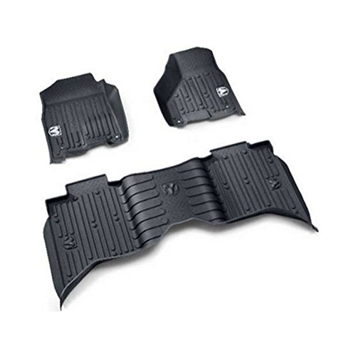 Dodge Ram Crew Cab Front & Rear All Weather Slush Floor Mat Mopar OEM - Oem Mats