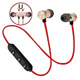 Alfaw Wireless Bluetooth Headphones, Magnetic Attraction Sweatproof Earphones, in-Ear HiFi Bass Stereo Noise Cancelling Wireless Earbuds, Mini Sport Headset for Workout, Gym & Running