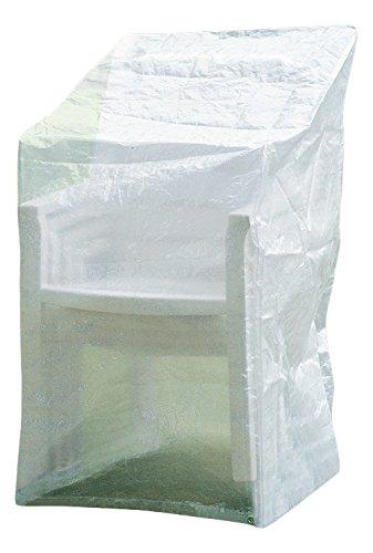 Telefonino di Plus 407445 Comfort Custodia per sedie sedia impilabile Cappuccio protettivo, trasparente, 65 x 110 x 150 cm 65x 110x 150cm Fachhandel-Plus