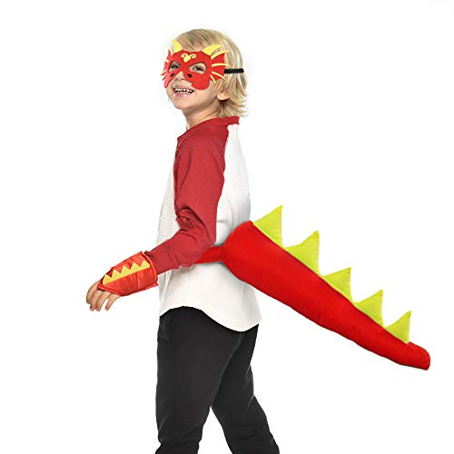 Dragon-Tail for Kids with Mask - Boys Girls Dinosaur-Costume Dress Up -