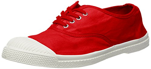 Bensimon Men Tennis Lacets Trainers Red (Rouge 0310)
