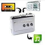 Multi-Function LP/Vinyl Records Tape USB Cassette Capture Portable Music Cassette-to-MP3 Converter Cassette Recorders & Players